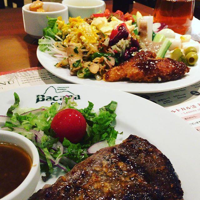 #バッカーナ #ランチ #ガーリック #ステーキ #サラダ #ブッフェ #スープ #カレー #フェジョン #ストロガノフ #コーンスープ #魚フライ #食べ放題 #シュハスカリア #肉 #野菜 #たくさん #おいしい #お腹いっぱい #大好き #銀座