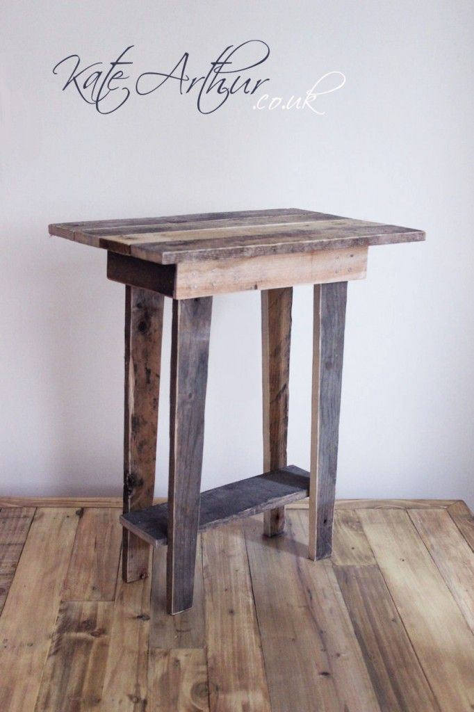 I have started to make a few bits of furniture out of wooden pallets that I obtained recently, this is a small side table.
