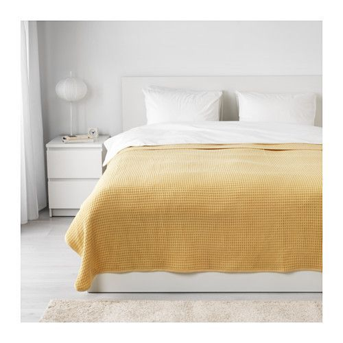 """IKEA - VÅRELD, Bedspread, 91x98 """", , This woven cotton bedspread gives your bed a vibrant, decorative look and extra warmth and comfort for you.Can be used as a bedspread for a Full size bed or as a large blanket."""