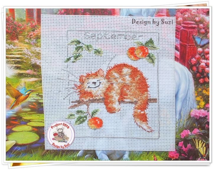Project 2014: 27/40 July (Margaret Sherry-Calendar Cats)