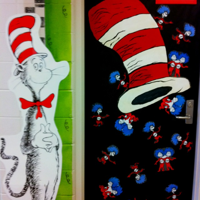 """Back To School Door. A Large """"Cat In The Hat"""" Hat With"""