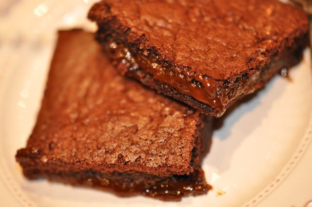 Chocolat brownie with a caramel surprise