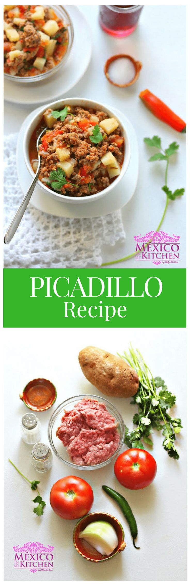 Picadillo Recipe │This is just a basic recipe that will allow you to make your own version at home, one that you can claim as your own. #mexicanrecipe #mexicancuisine #beef