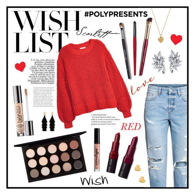 """#PolyPresents: Wish List"" by marianaserrano9 ❤ liked on Polyvore featuring H&M, Vanessa Mooney, MAC Cosmetics, Bobbi Brown Cosmetics, Urban Decay, Red Herring, NYX, contestentry and polyPresents"