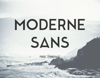 Moderne Sans - Free Typeface