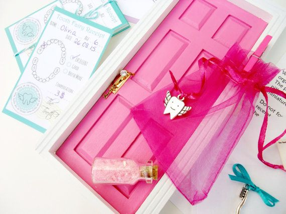 Tooth Fairy Door Kit Hot Pink Tooth Fairy by Portesbonheur on Etsy