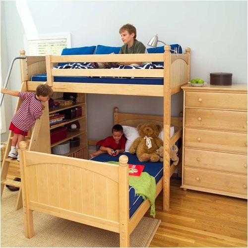 Twin+High+Loft+Bunk+Bed+with+High+Bookcase+Bedroom+Set-Bedroom Decorating Ideas for Creative Kids Rooms : Decorating Design Ideas