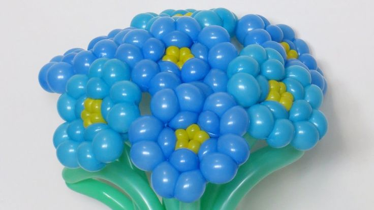 Forget-me-not flowers of balloon twisting tutorial :)