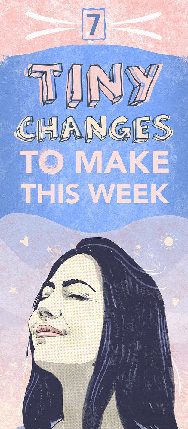 """""""7 tiny changes to make this week..."""". Routines, ideas, activities and worksheets to support your self-care. Tools that work well with motivation and inspirational quotes. For more great inspiration follow us at 1StrongWoman."""