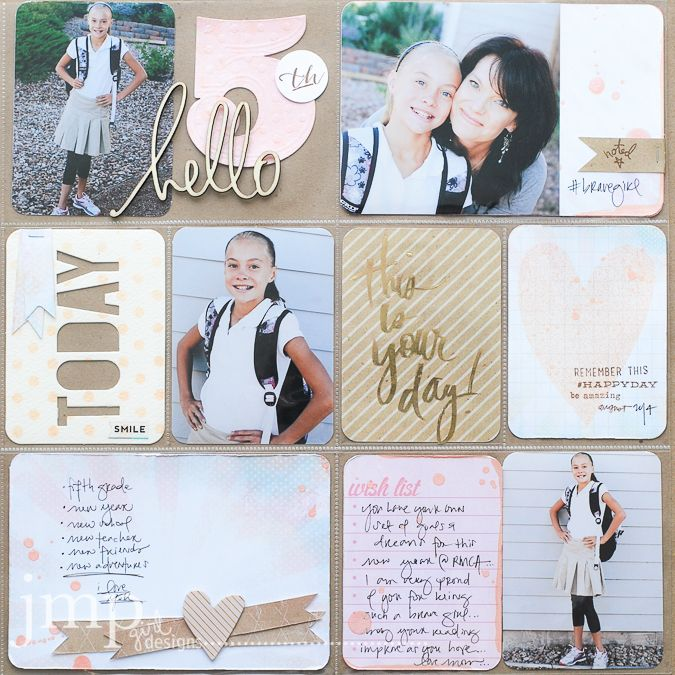 An absolutely stunning layout by jamie Pate using Heidi Swapp's Project Life Collection.