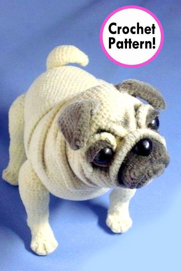 Pug Dog Crochet Pattern Amigurumi Pug Dog Pug Dog Amigurumi
