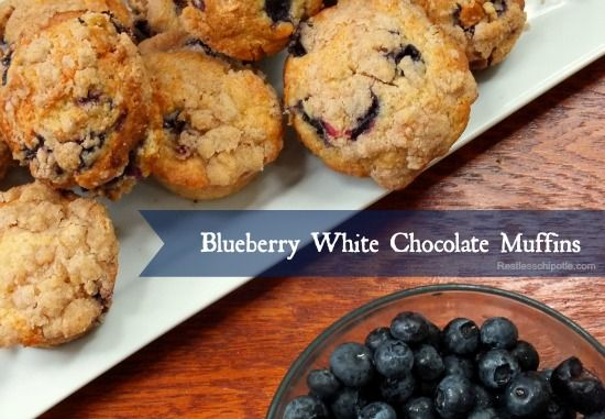 blueberry white chocolate muffins are easy, freeze well, and taste ...