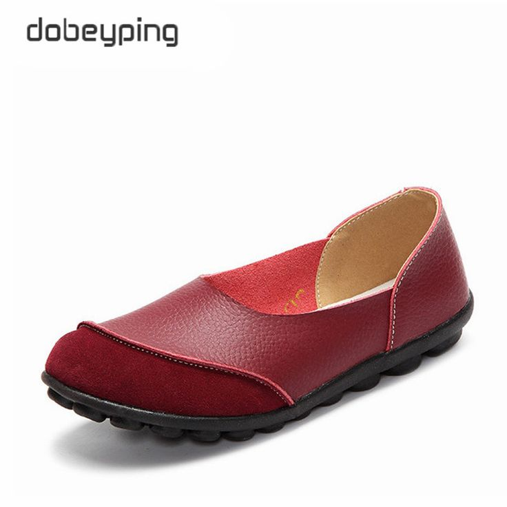 Discount 2017 New Women s Casual Shoes Soft Genuine Leather Female Flats Non Slip Woman Loafers Leisure. Click visit to check price