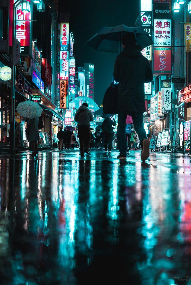 Late night in Shinjuku, Tokyo [1419×2113] [OC] : C…