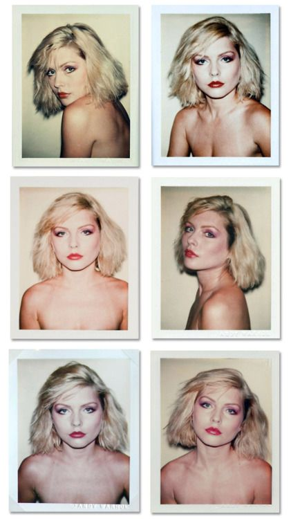 Debbie Harry in Andy Warhol Polaroids, 1980.