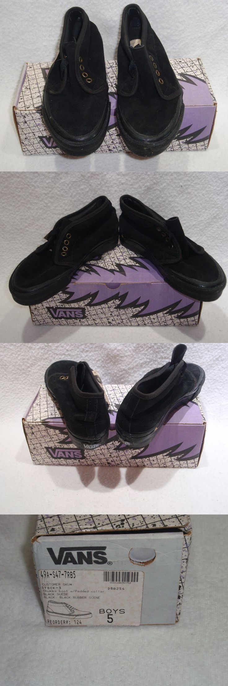 Youth 159072: Nos Vintage 1990 Vans Chukka Boot Black Suede Boys 5 Sk8 Skateboard Bmx Shoes -> BUY IT NOW ONLY: $32.99 on eBay!
