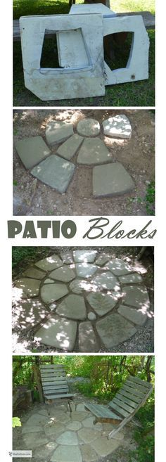 Patio Blocks - make  your own with soil cement in a home made Styrofoam mold... Gardening | DIY