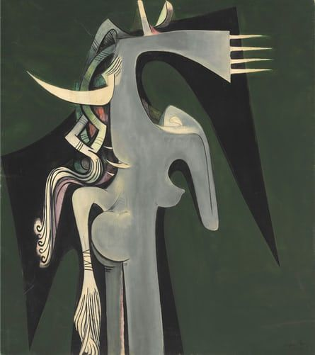 Horse-Headed Woman, 1950, by Wifredo Lam.