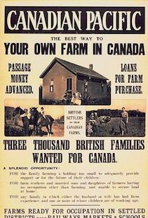 source:poster. Canadian pacific This is a poster of Canadian Pacific posted during British Empire Exhibition and it is about encouraging British people to have their own farm in Canada. This poster showed that Canada recovered soon after WW2 ended and it started to attract immigrants overseas with its unique natural and economic conditions.