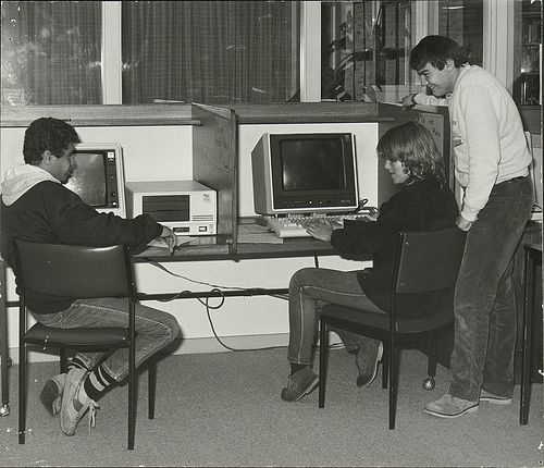 Computer Studies Work 1975. 1970s computers.#tafe #education #geelong #learning