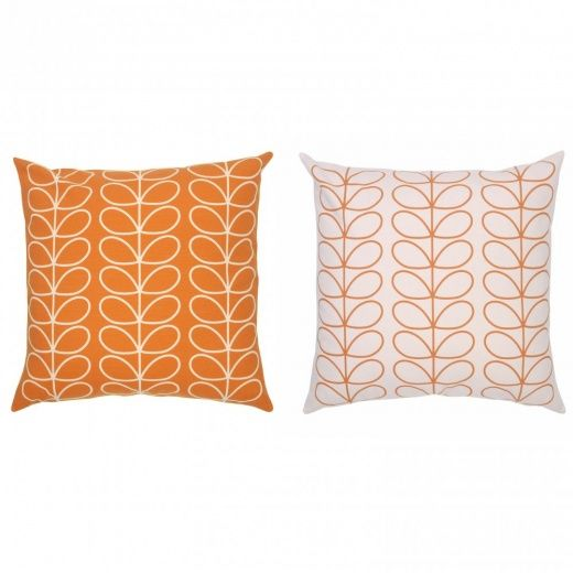 Orla Kiely Linear Stem Orange Cushion Large
