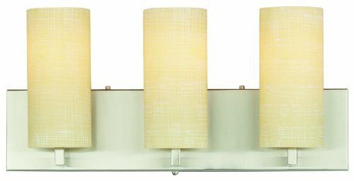 Forecast Lighting F433136 Cambria 3 Light Bath, Satin Nickel by Philips. $136.38. Forecast Lighting F4331-36 Cambria collection offers a soft clean look with it's etched Katherine glass and Satin Nickel finish in this 3 light bath light.