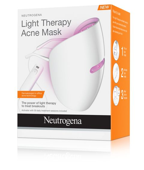 Neutrogena Light Therapy Acne Mask, this light therapy face mask harnesses the power of clinically proven technology to clear acne breakouts and allow skin to heal. See clearer skin with this chemical free and UV free acne treatment.