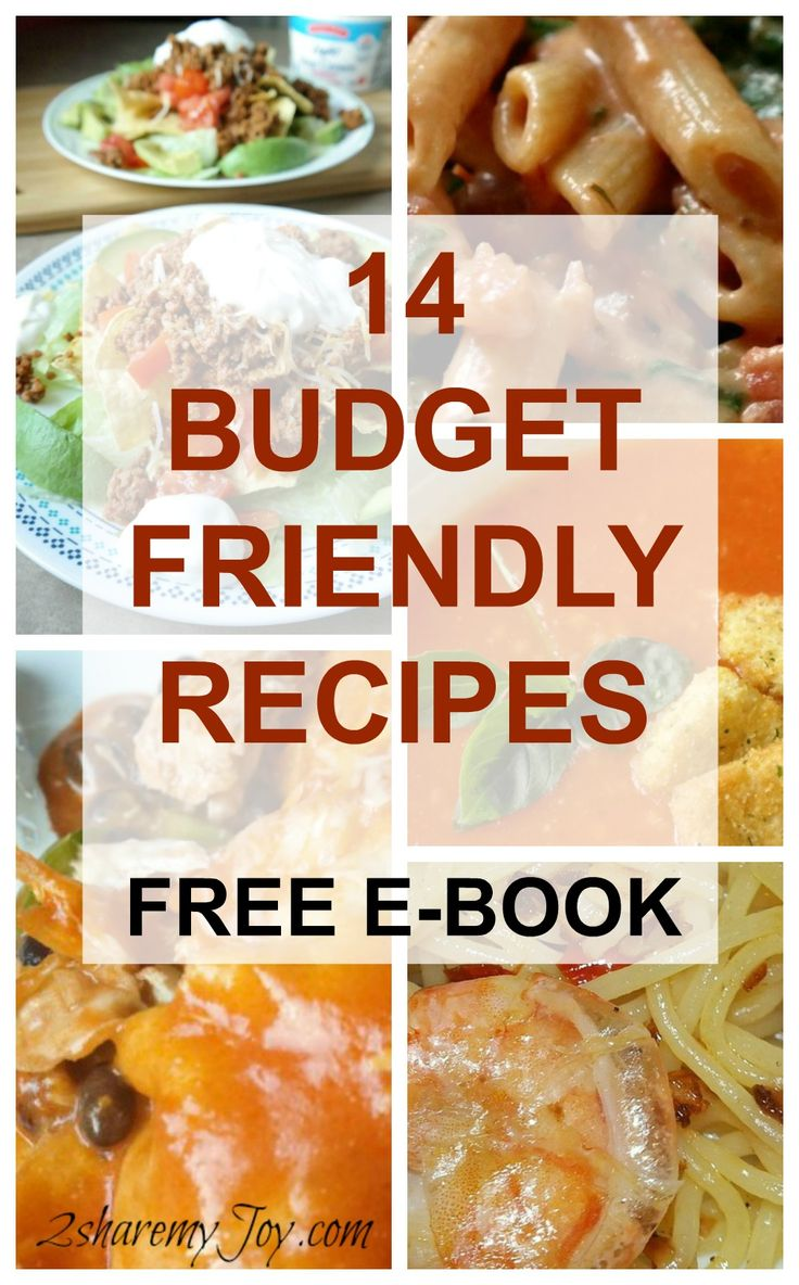 14 budget friendly recipes to save you money on groceries. free ebook with Italian, Mexican and country style recipes that are easy and frugal. click through for your free download.