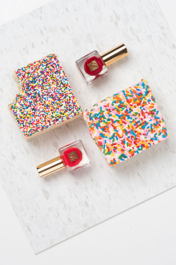 Monday's red mani inspired by dessert (Pure Color Nail Polish in Envious and Pure Red)
