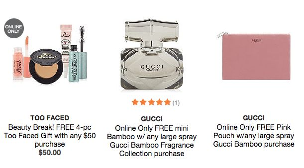 Ulta.com: FREE 4-pc Too Faced Gift with any $50 purchase + more