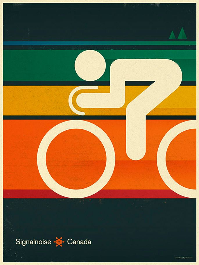 Cycling poster. #poster, #illustration