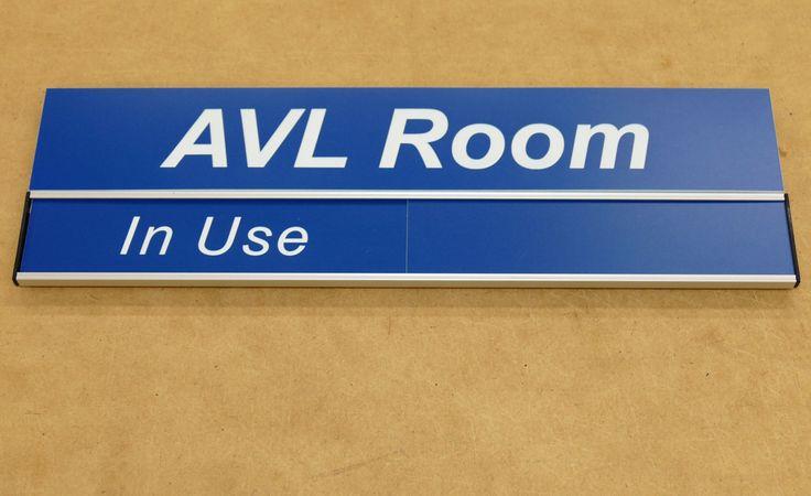 Room status sign Header Name with status slider underneath