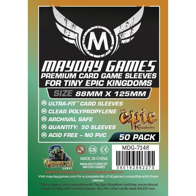 Mayday Games Premium Card Sleeves 88x125mm (50 Pack)