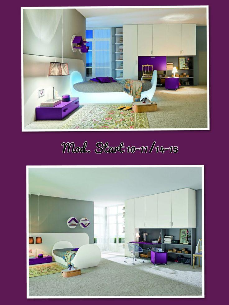 Single Bedroom - two vision  /  Camera da letto singola in due visioni