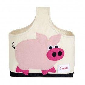 Nursery Storage Pink Pig Caddy - Wide range of Nursery Accessories online   Nubie - Modern Baby Boutique