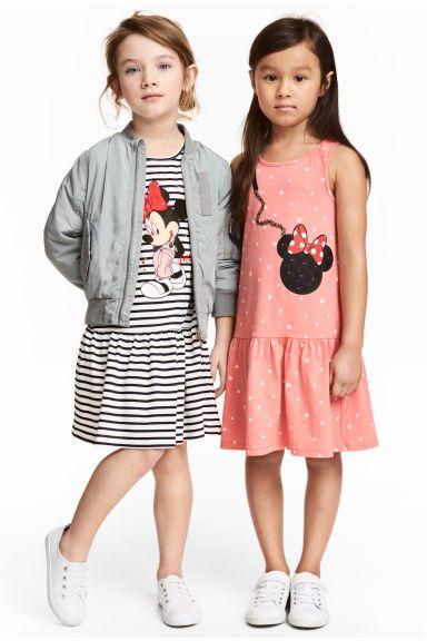 Dżersejowa sukienka 2-pak - Biały/Myszka Minnie - Dziecko   H&M PL 1