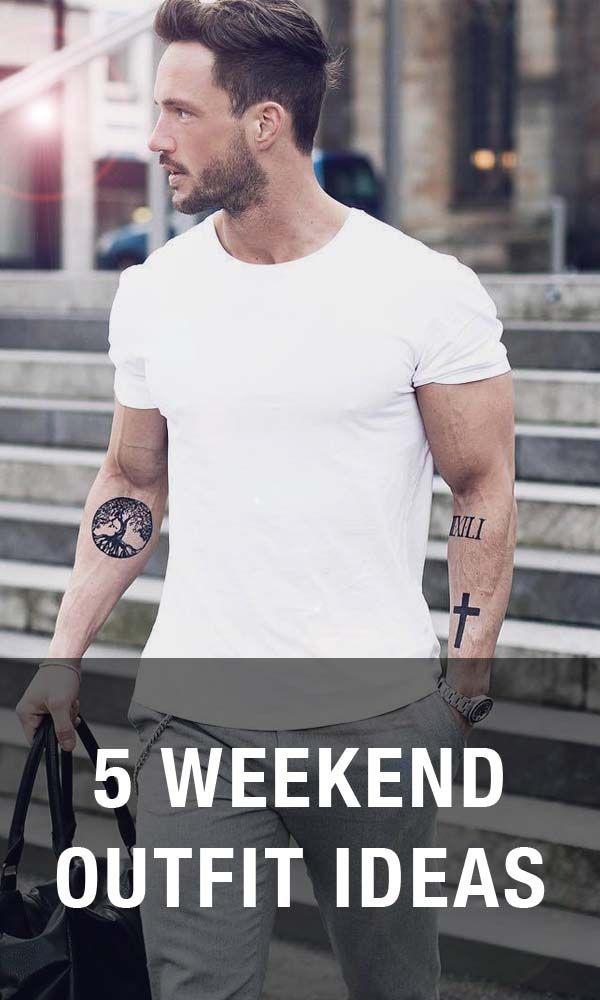 5 weekend outfit ideas. #MensFashion