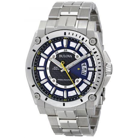 Reloj Bulova Dial Precisionist inoxidable Pulsera Modelo 96B131
