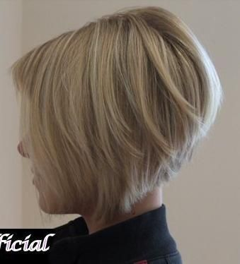 stacked / angled bob hairstyle by sonya