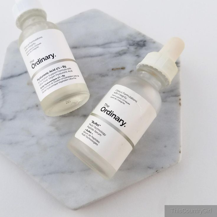 The Ordinary Skincare Hydrating Serums: Buffet vs. Hyaluronic Acid 2%