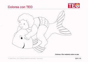 PEZ-NADANDO-Dibujos-para-colorear-niños