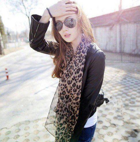Модный уютный женщины дамы благородный женщины в шарф шаль шейный платок заглушить конструкций леопардовый 5 шт. / много
