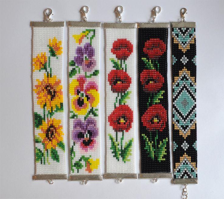 Bead loom bracelet Sunflower bracelet Toho bead bracelet