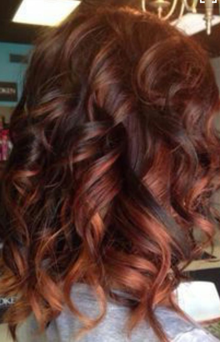 Brunette With Red Highlights Naturals Red Hair Color