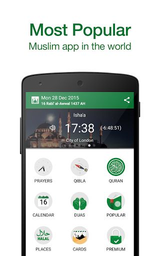 Muslim Pro: Prayer Times Quran v8.4.5 [Premium]   Muslim Pro: Prayer Times Quran v8.4.5 [Premium]Requirements:4.0.3Overview:#1 Prayer time App 15 million users in 215 countries  Recognized by millions of Islam followers through the Muslim world as the most accurate Prayer time & Azan application on mobile devices. Muslim Pro also features the full Quran with Arabic scripts phonetics translations and audio recitations as well as a Qibla locator an Islamic Hijri calendar a map of halal…