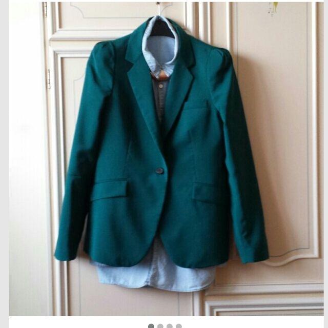 #repop non lo abbandonate  #blazer #green #zara #emerald #nice ...