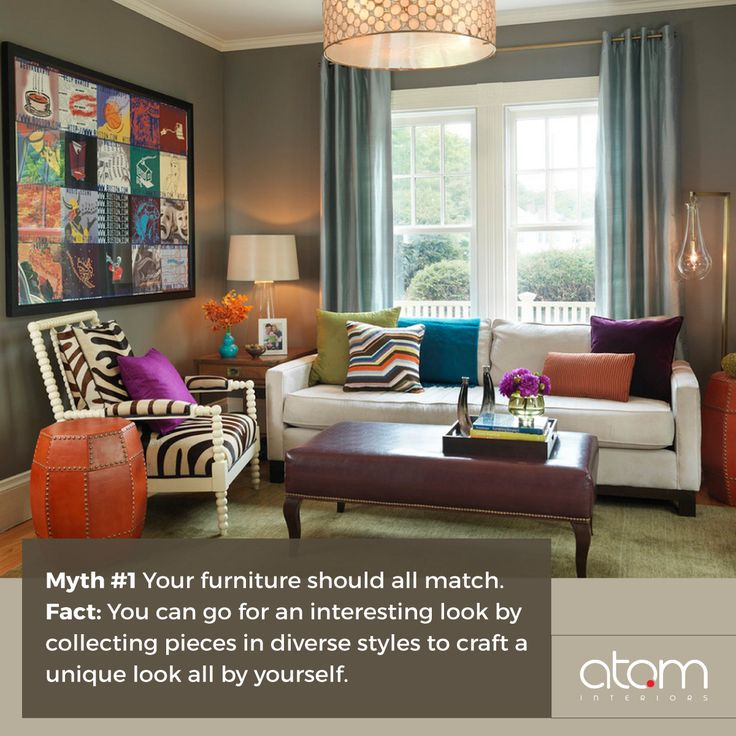 The trick to mixing and matching furniture lies in finding harmony among your pieces by their shape or style. Try one out!  Book for a free consultation at Atom Studio on 94814 94815 http://www.atominteriors.com/ #interiordesign #interiorstyling #interiordesigner #interiors #interiordecor#interior4all #interiorandhome #MythandFacts #interiorstyling #interiorstyle #furniture #modernfurniture #timelessdesign #homedesign #hometrends #instagood #beautiful #beauty #design