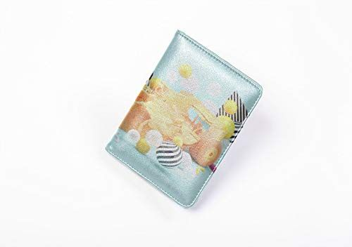 Passport Holder Orange Racing Car Among Colorful Balls Blocking Microfiber Leather Credit Card Holder For Women
