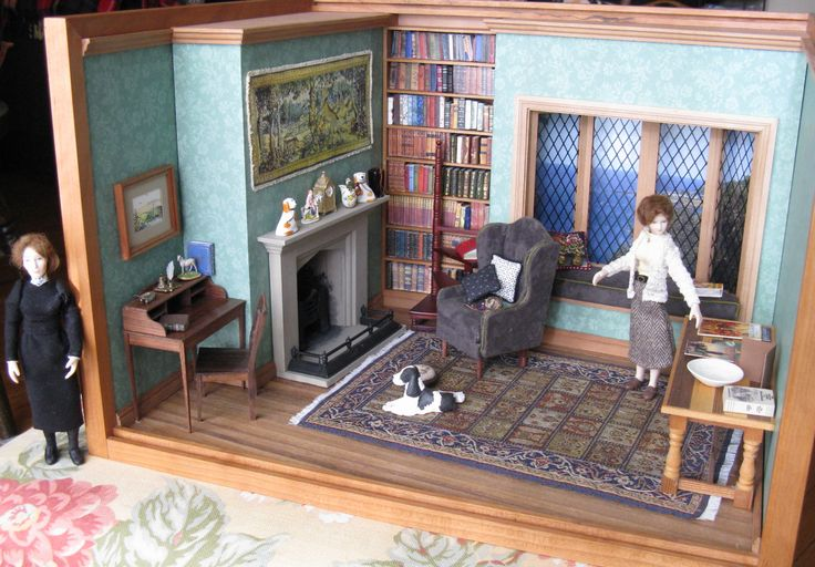 Library at Manderley, with Mrs. Danvers lurking nearby.