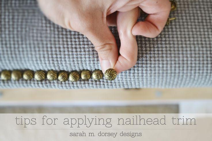sarah m. dorsey designs: Tips for Applying Nailtrim (and what I'm nailheading!)